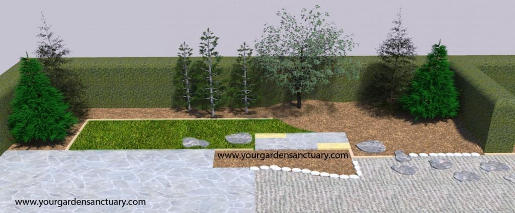 Japanese-garden-Hinoki-cypress
